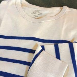 JCrew men's nautical stripe sweatshirt